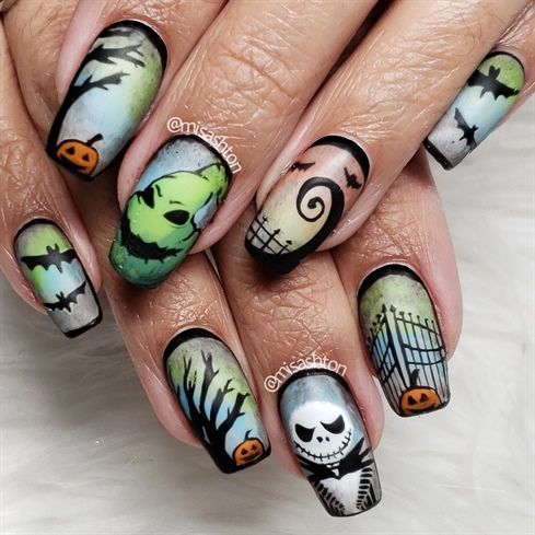 elegant halloween nail designs for women  isishweshwe