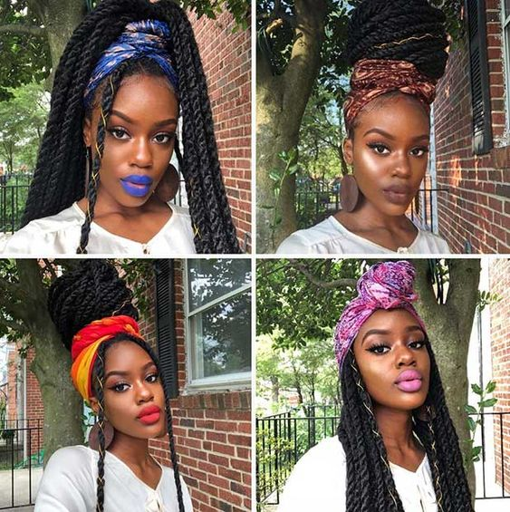 Latest Box Braids Hairstyles 2020 African Hairstyles Styles Isishweshwe